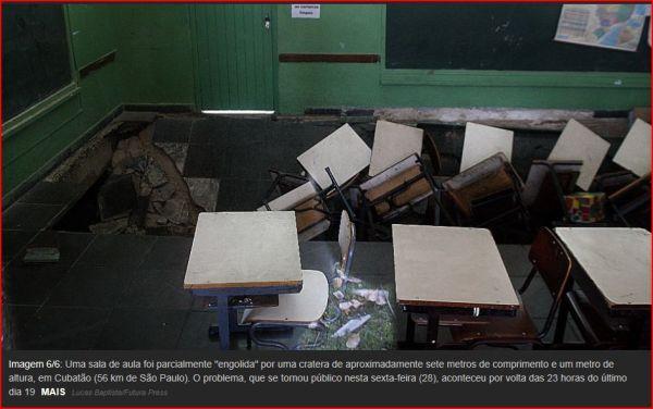 Piso do Alckmin afunda sala de aula