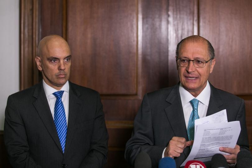 O governador Geraldo Alckmin durante a apresentação do novo secretário de segurança pública, Alexandre de Moraes. Data: 17/12/2014. Local: São Paulo/SP. Foto: Edson Lopes Jr/A2 FOTOGRAFIA
